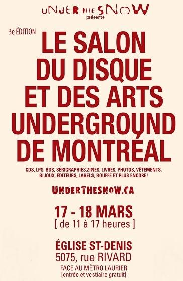 Participation de La Ligne À Harde au 3e Salon du disque et des arts underground de Montréal